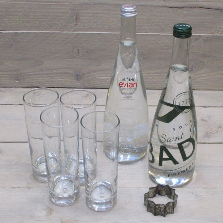 Assortiment de boissons soft (contenant en verre)